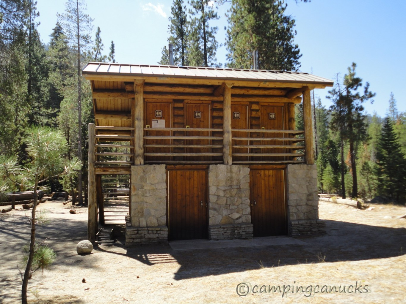 The Hilton of backcountry outhouses!