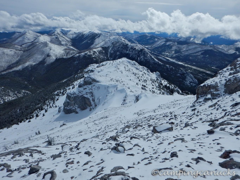 Ridge south of the peak