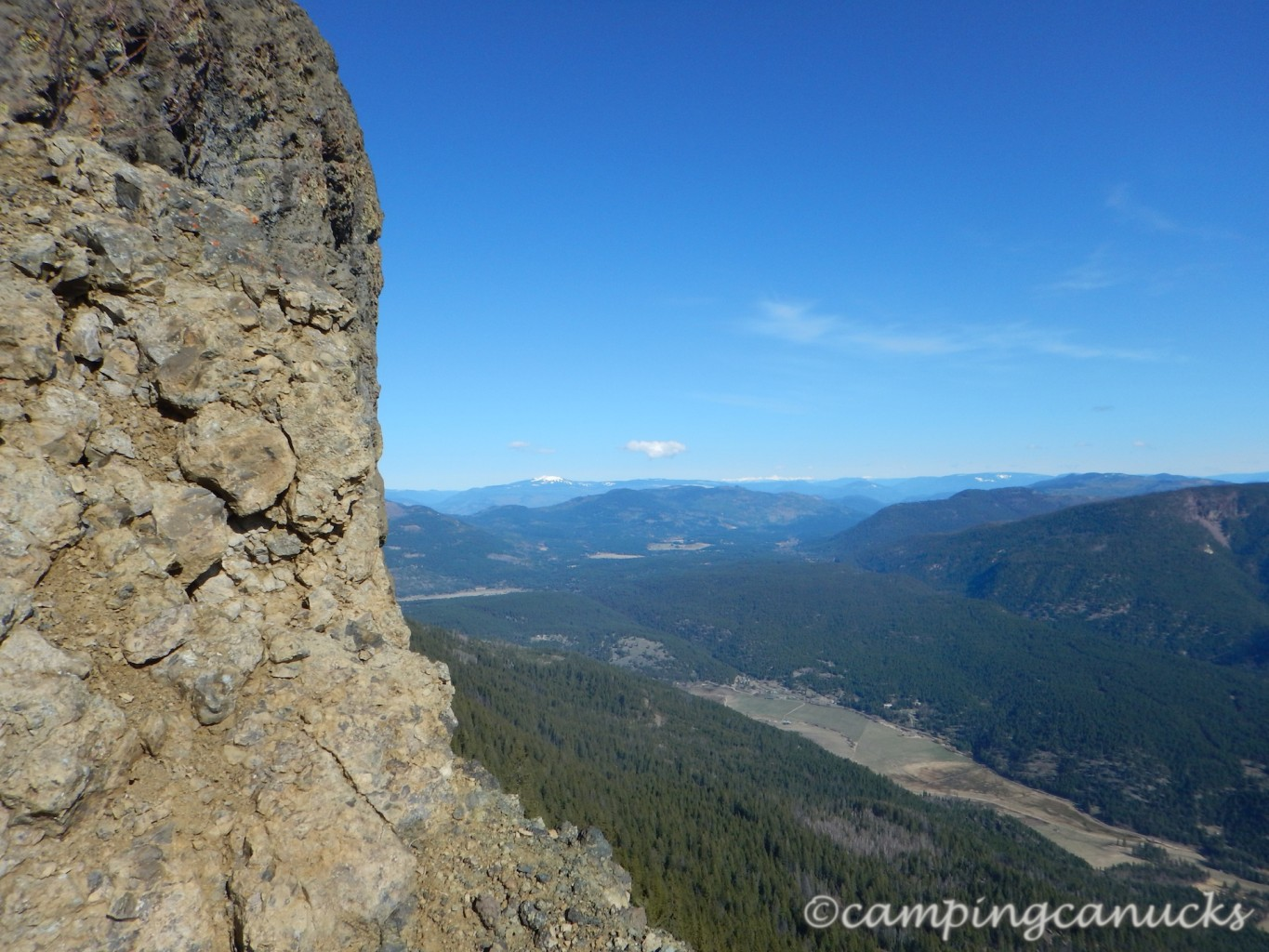 North towards Sun Peaks and Mount Tod