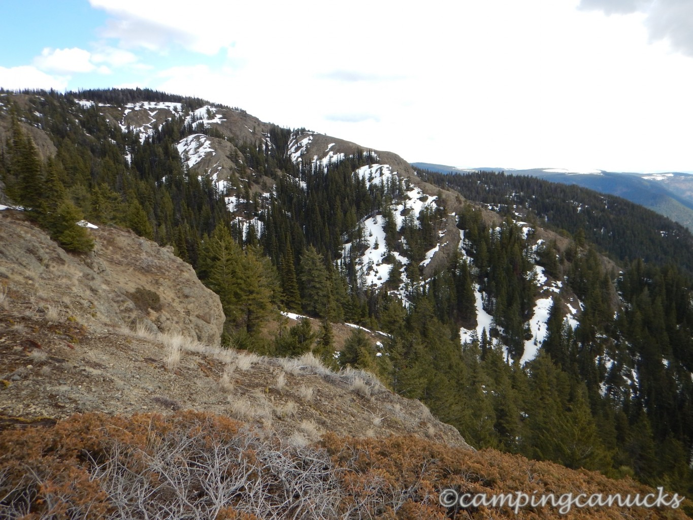 Eastern slopes along the trail