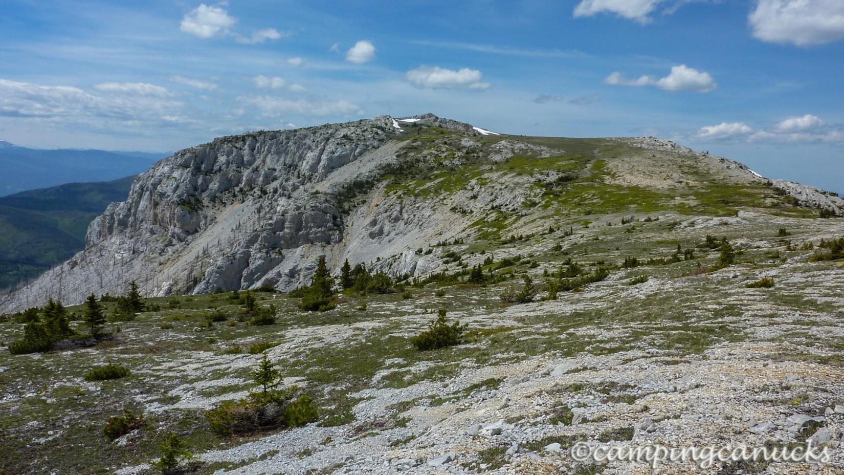 The saddle between ridges