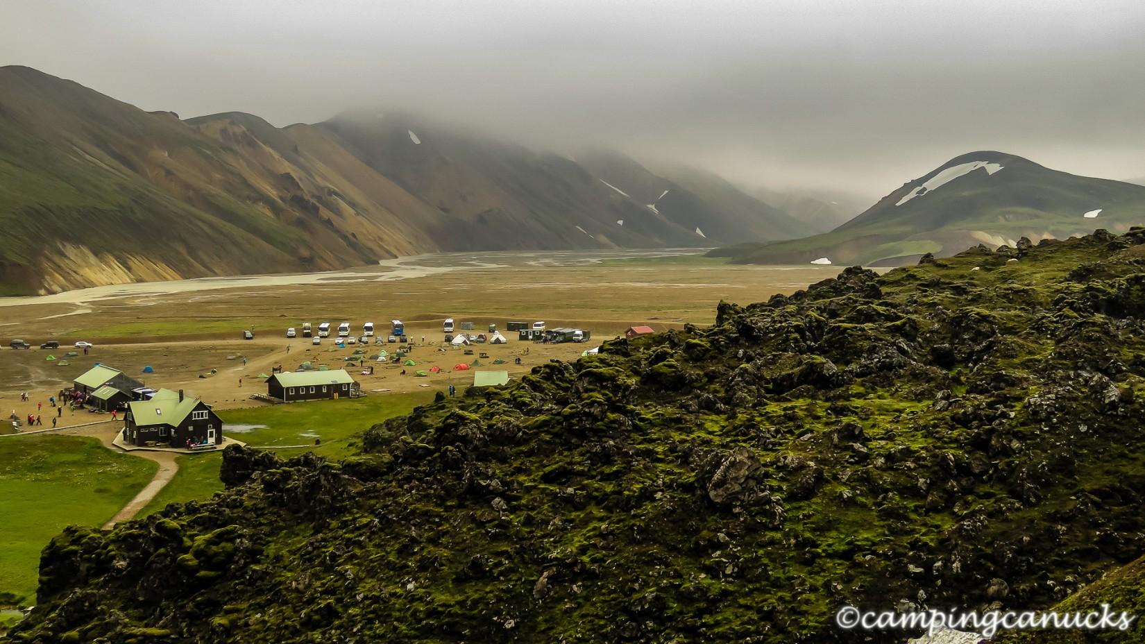Looking back at Landmannalaugar