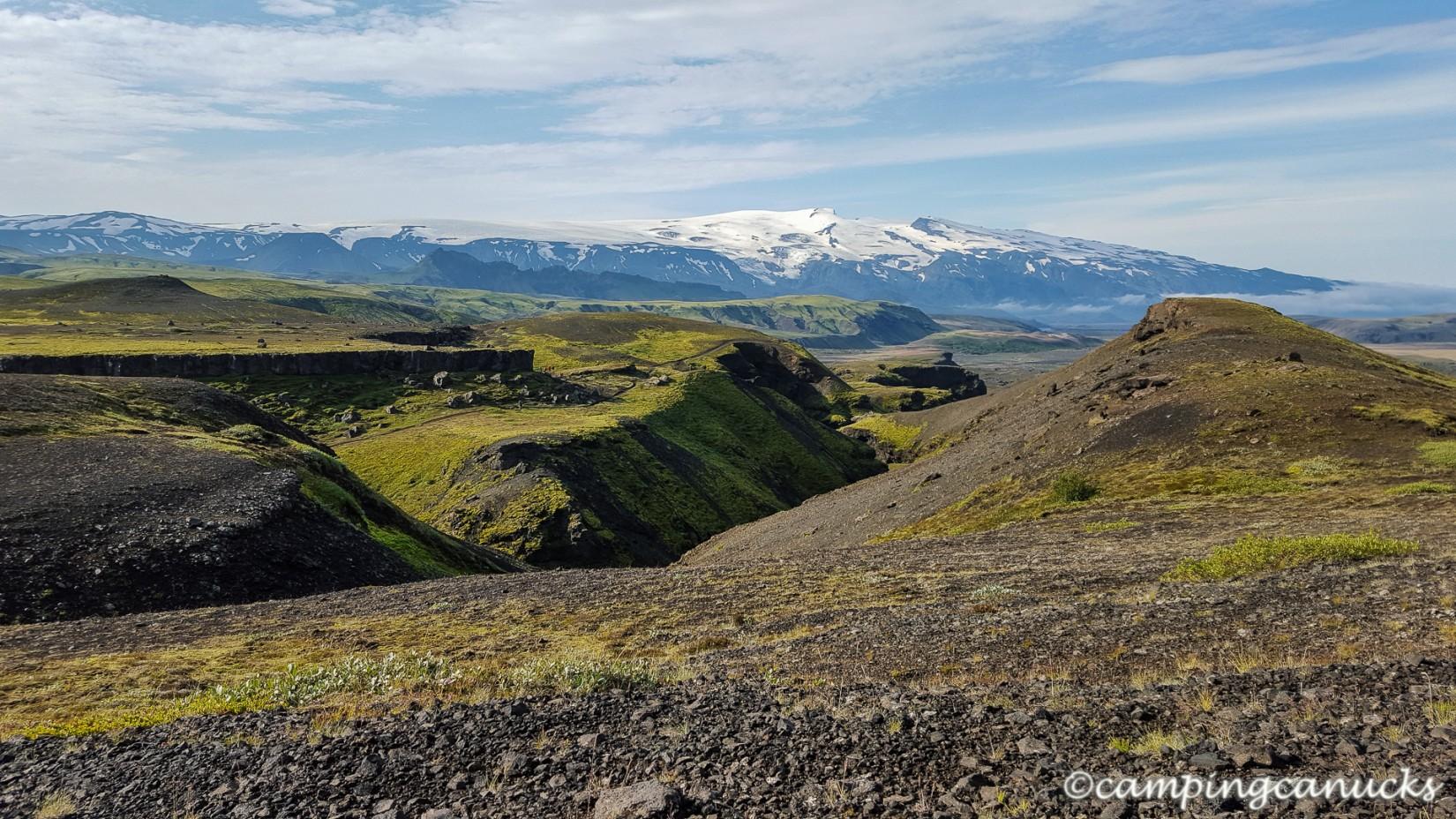 Eyjafjallajökull in the distance