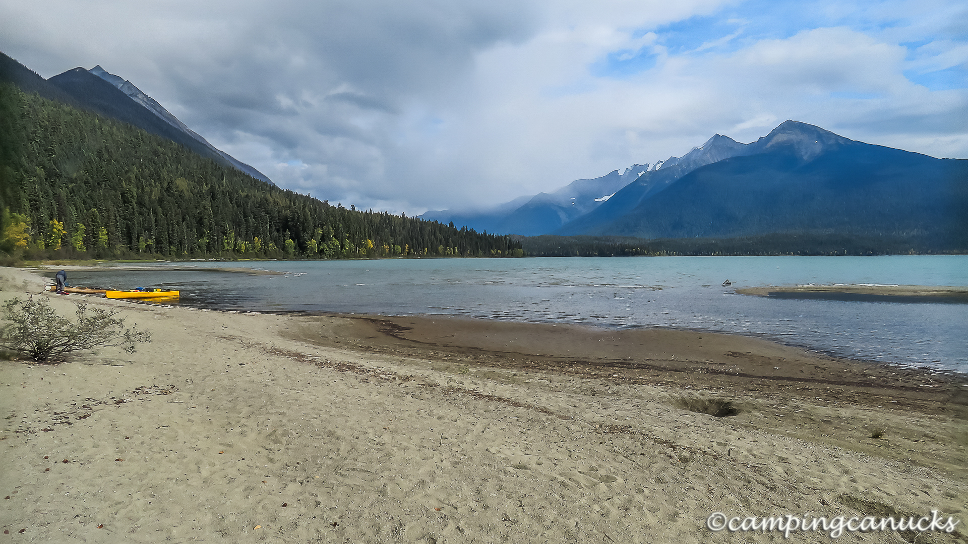 One of the beaches along Sandy Lake