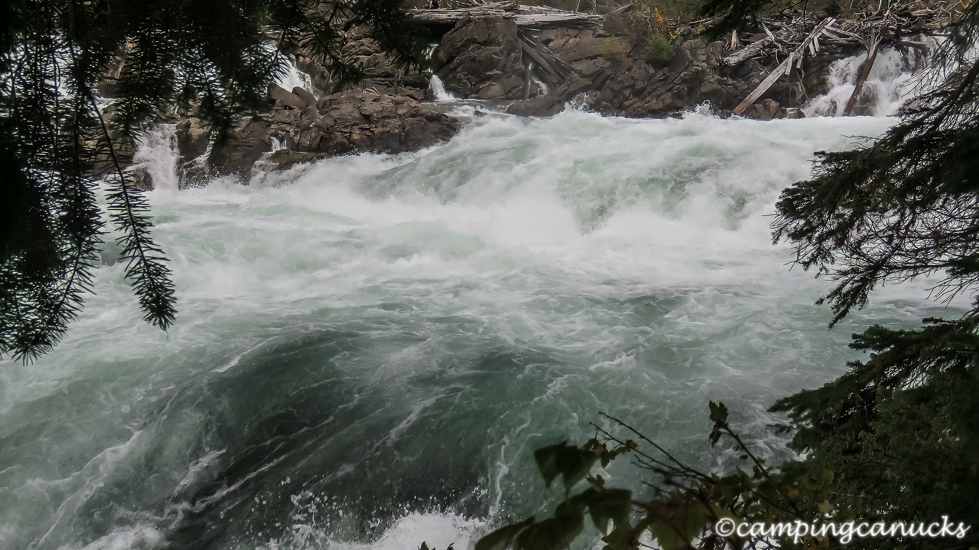 A section of Cariboo Falls