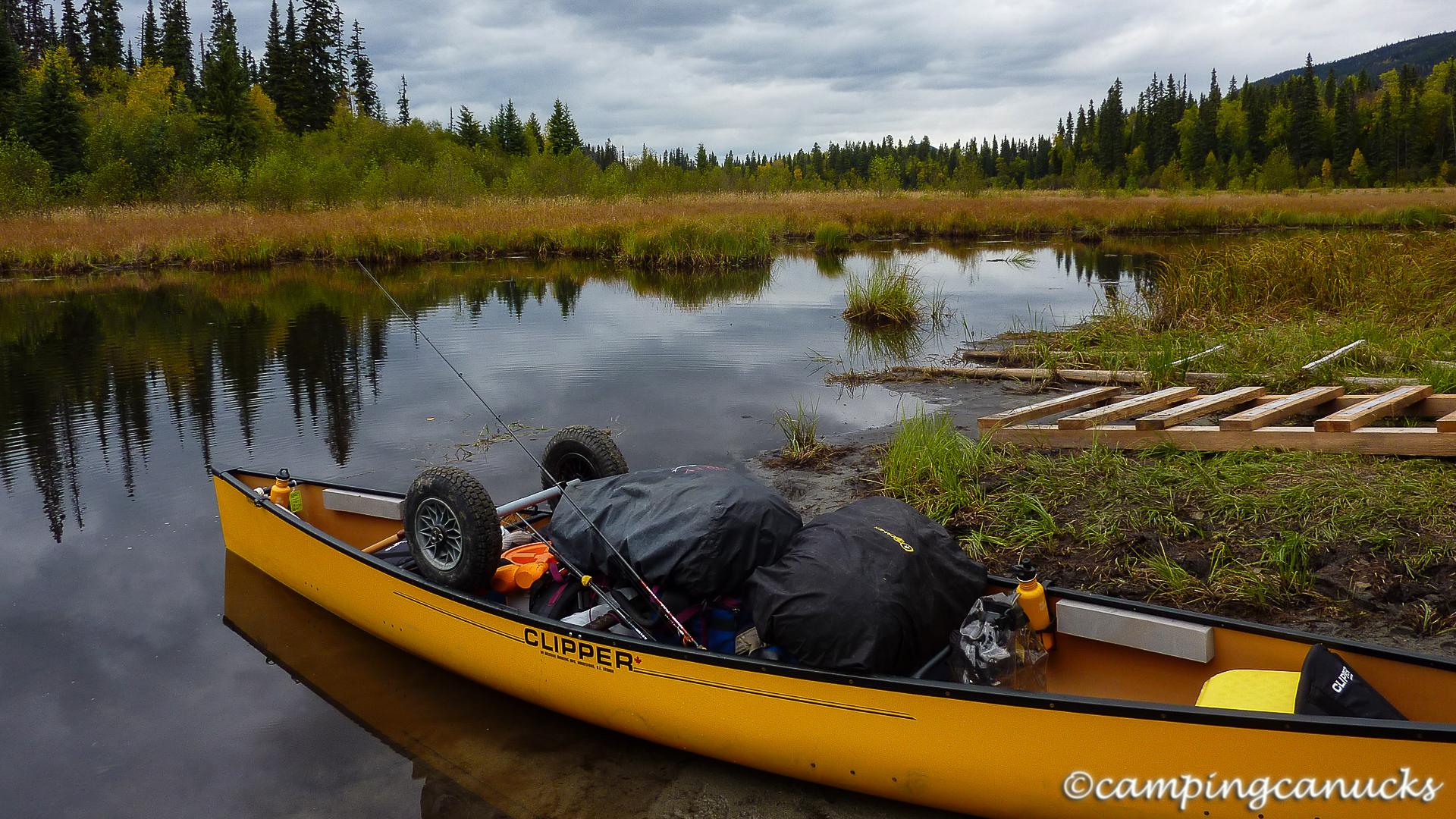 Putting back in at Skoi Lake