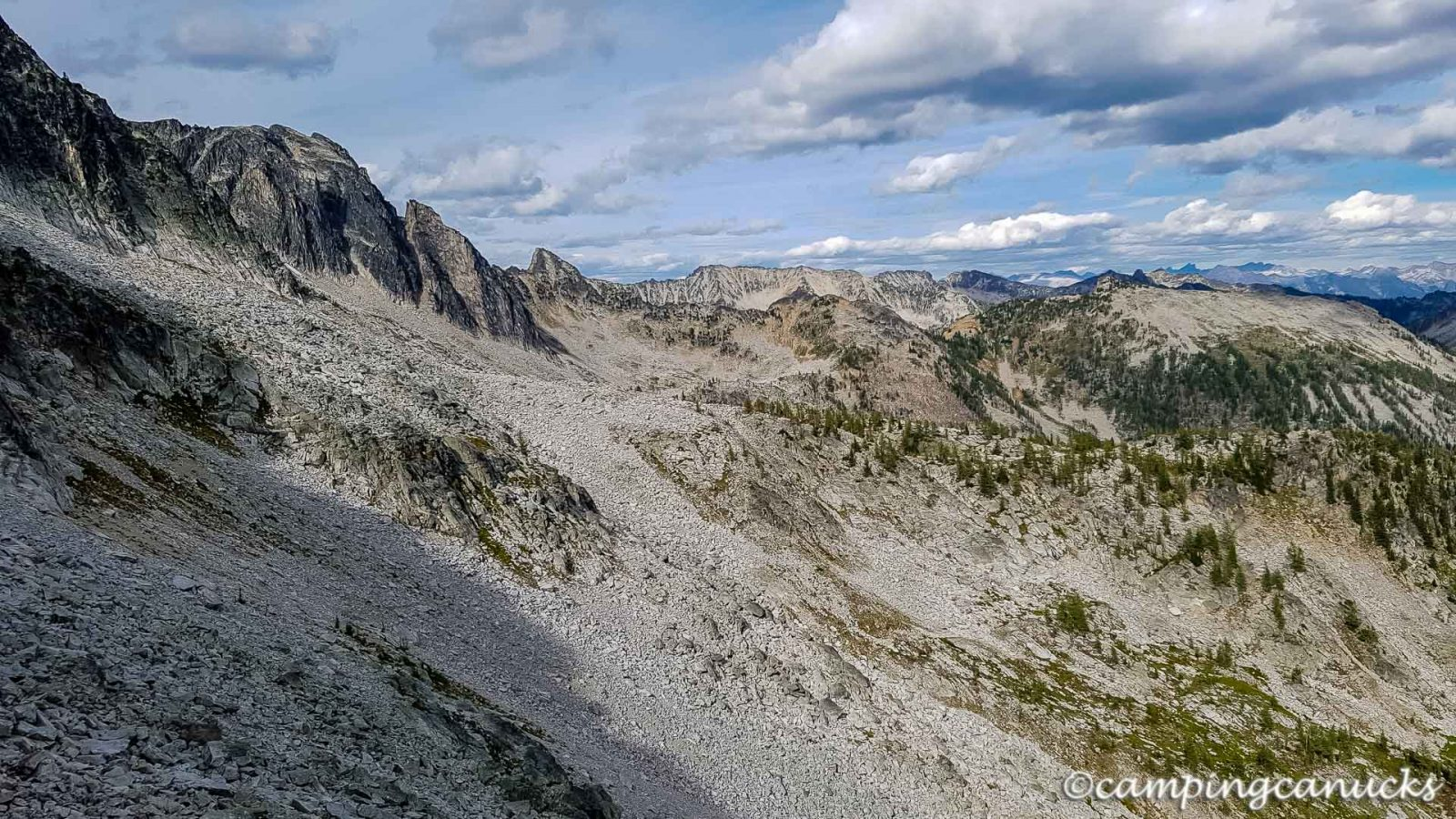 The route ahead to the next ridge