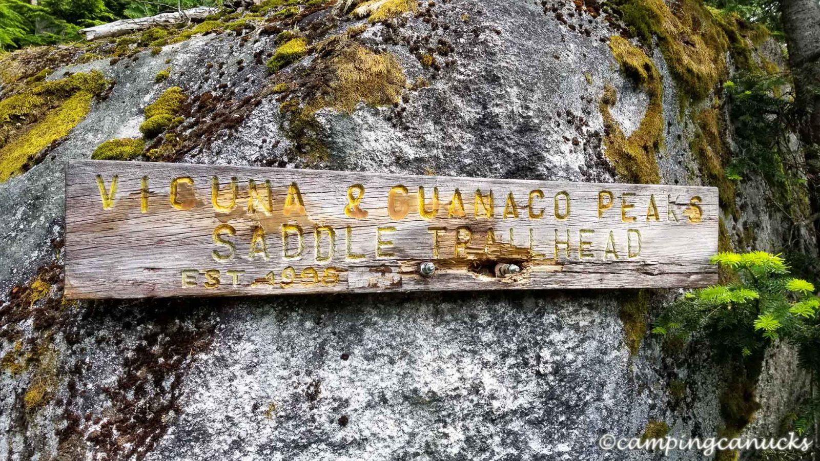 Trailhead sign
